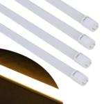 Justdeco - Superbe Tube fluorescent 4 pcs T8 Led blanc chaud 15 W 90 cm Neuf