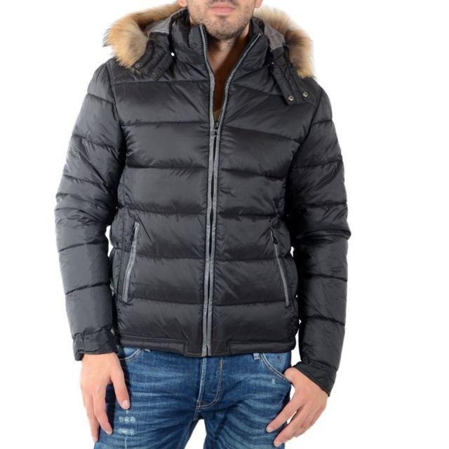 c0650875a224 Japan Rags - Doudoune Ares Noir - pas cher Achat   Vente Blouson homme -  RueDuCommerce