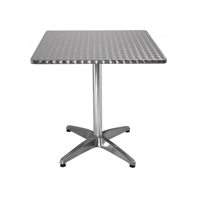 Materiel Chr Pro Table bistro carrée Bolero 700 mm - Inox