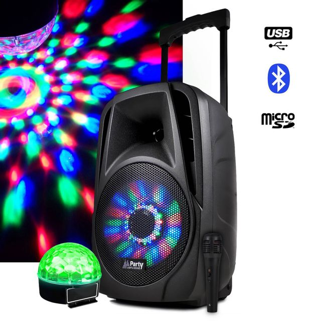 Party Sound Enceinte mobile batterie 300W 8