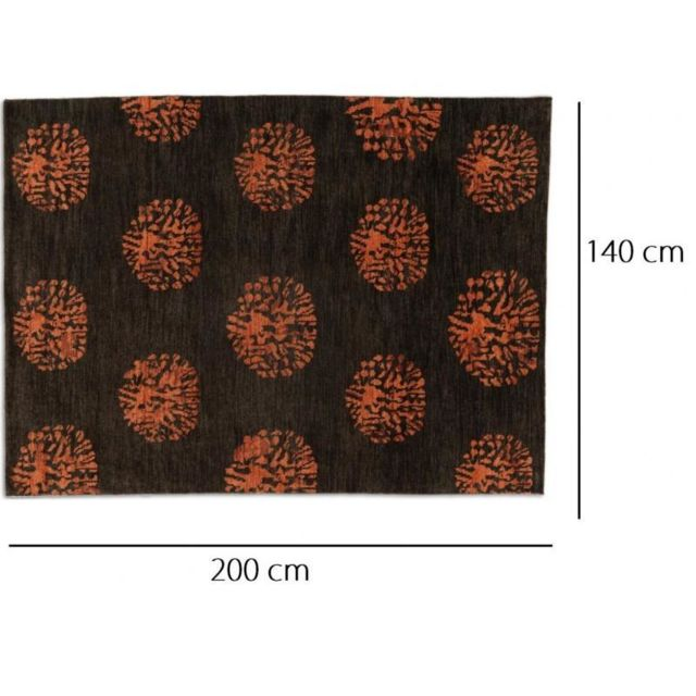 Inside 75 - Basanti Tapis laine marron 140x200 cm N/A