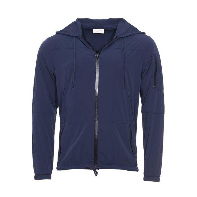 AMERICAN VINTAGE - Veste à capuche zippée Datmon bleu nuit