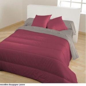 bleu calin couette bicolore bourgogne poivre 140 pas cher achat vente rueducommerce. Black Bedroom Furniture Sets. Home Design Ideas