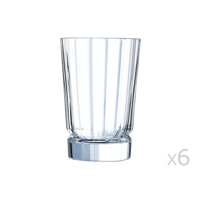 Cristal D'ARQUES Gobelet en cristallin 28cl - Lot de 6 Macassar