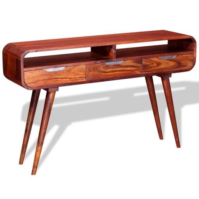 Superbe Consoles famille Sanaa Table console Bois massif de Sesham 120 x 30 x 75 cm