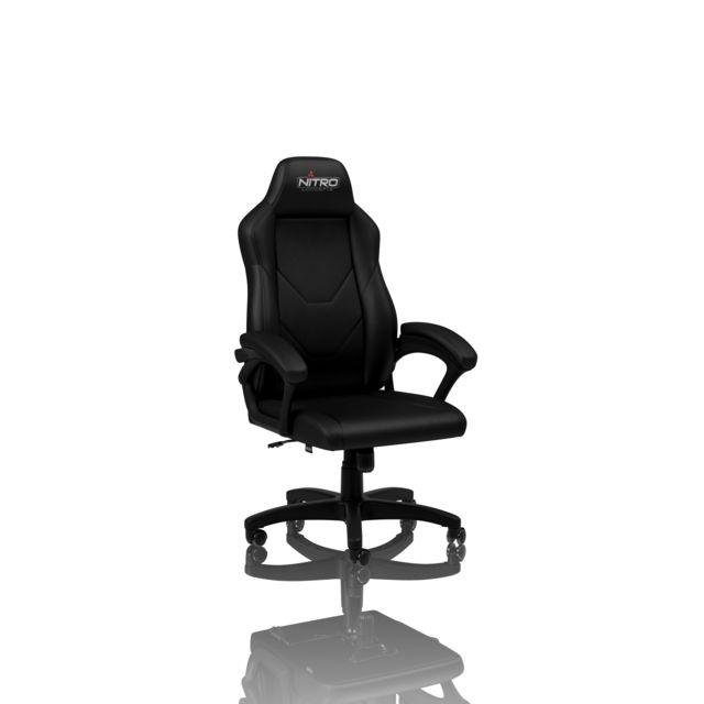 NITRO CONCEPTS Chaise de jeu C100 en cuir noir