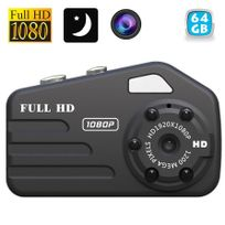 Yonis - Caméra espion miniature Hd 1080P vision nocturne mini photo 12MP 64 Go