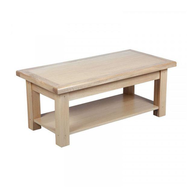 Dansmamaison Table basse double plateaux - Cympa - L 110 x l 55 x H 40 cm