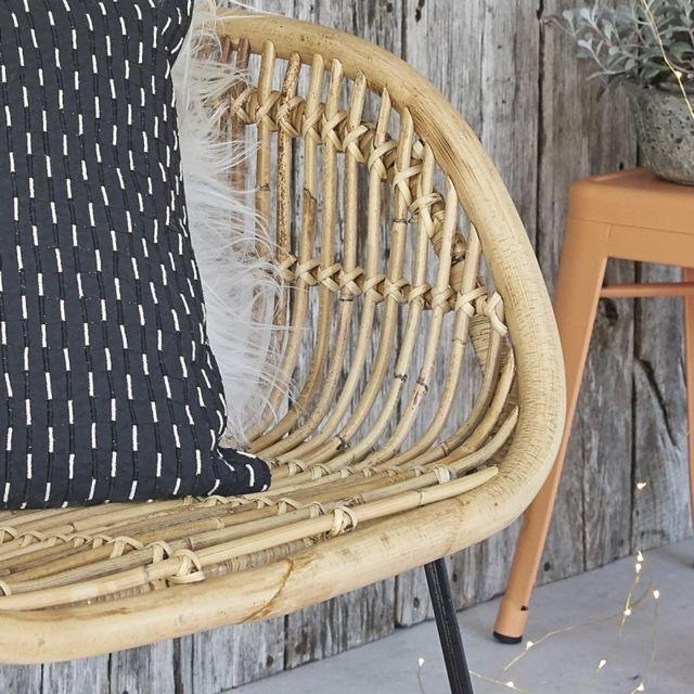 Bois Dessus Bois Dessous - Chaise en rotin et métal Naturel