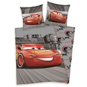 no name cars parure de couette enfant 100 coton 1 housse de couette 140x200 cm 1 taie d. Black Bedroom Furniture Sets. Home Design Ideas