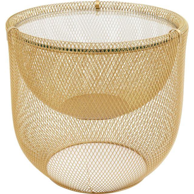 Karedesign Table basse Grid 50cm dorée Kare Design