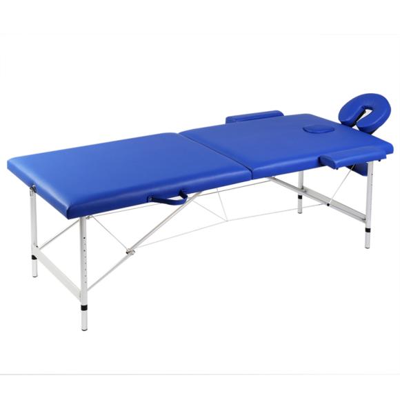 Rocambolesk superbe table de massage pliante 2 zones bleu cadre en aluminium neuf pas cher - Table de massage pliante pas chere ...