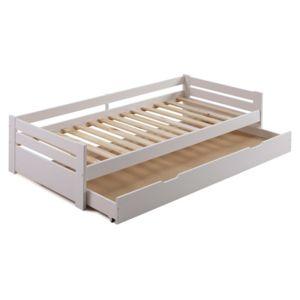 Marque Generique - Lit gigogne en bois 90x190 cm avec 1 sommier à ...