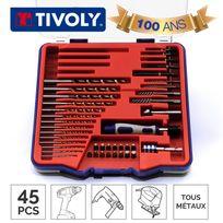 Tivoly - Mallette Technic forets et embouts tous métaux 45 pièces