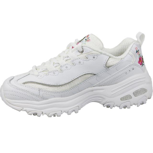Skechers D'Lites Bright Blossoms 11977 WHT Blanc pas