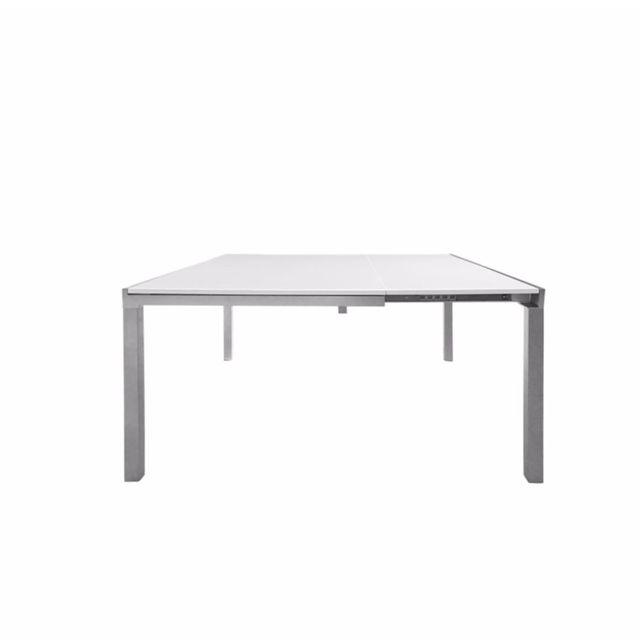 d29c955e242f8d Kit A Faire - Table extensible design 90-140 x 140 blanc - pas cher ...