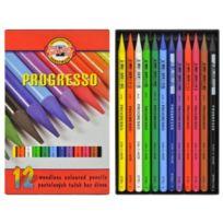 Koh-I-Noor - Progresso Set De Crayons De Couleur Sans Bois SET De 12