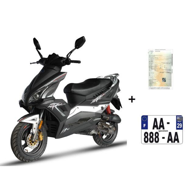 eurocka scooter matador 50cc 4t noir immat achat vente scooters 50 pas cher rueducommerce. Black Bedroom Furniture Sets. Home Design Ideas
