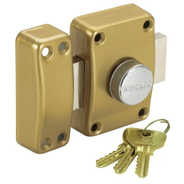 2683b9ae0d0 Bricard - Verrou pour porte de sureté Bricard à bouton et clé Cylindre 45  mm 3