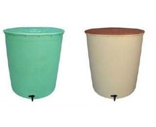 Bellijardin r cup rateur d 39 eau de pluie rond 350 litres vert pas cher achat vente - Recuperateur eau de pluie pas cher ...