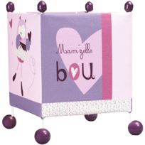 SAUTHON BABY DECO - Lampe de chevet carrée Mam'zelle Bou
