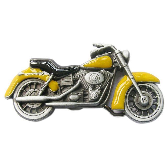 Universel Boucle de ceinture moto jaune homme femme biker motard