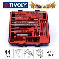 Tivoly - Mallette Technic forets et embouts multi-matériaux 44 pièces