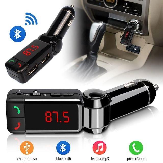 karylax kit bluetooth mains libres voiture chargeur usb pour smartphones apple samsung kazam. Black Bedroom Furniture Sets. Home Design Ideas