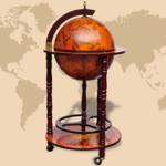 Vidaxl - Bar Globe Terrestre Mappemonde en Bois