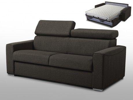 Linea Sofa Canape 3 Places Convertible Express En Tissu