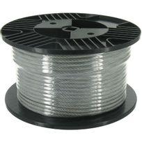 Chapuis - Câble acier gainé Pvc Bobine de 50m Diamètre Câble 4mm Ext 6mm