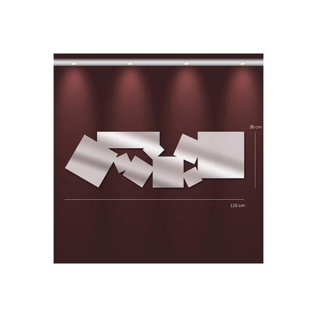 Declikdeco Miroir parallélépipède Gm argenté en verre Tonia 36 x 115 cm