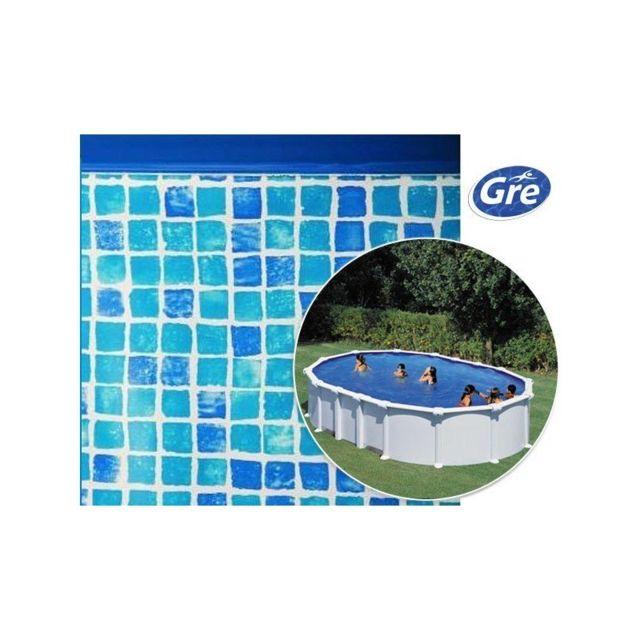 Gre Pools Liner Mosaique Pour Piscine Hors Sol Ovale Gre Pool