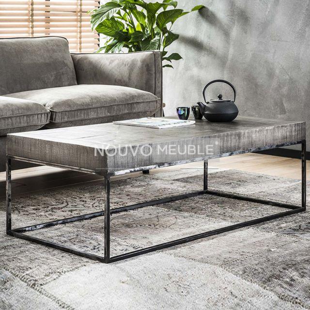 Nouvomeuble Table basse rectangulaire en bois Dayton 2