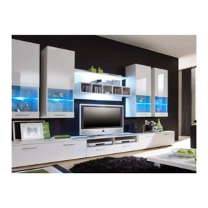 chloe design meuble tv design mural raken blanc et. Black Bedroom Furniture Sets. Home Design Ideas