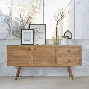 bois dessus bois dessous commode en bois de mindy 2 tiroirs 2 portes pas cher achat vente. Black Bedroom Furniture Sets. Home Design Ideas