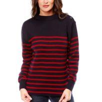 Dalmard Marine - Pull marin en laine Couleur - rouge, Taille Femme - 36 a689fb8e43ee
