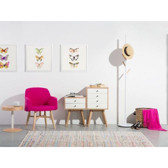 Beliani Commode - meuble de rangement - étagère - blanc - Phoenix