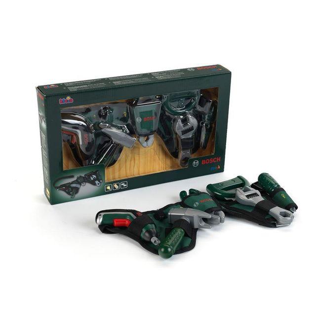 Theo Klein 8313 Ceinture à outils Bosch avec perceuse sans fil Ixolino Ii Ceinture à outils Bosch avec perceuse sans fil Ixolino IiLes enfants vont pouvoir faire comme papa et bricoler toute la journée avec cette ceinture à outil Bosch.La ceinture porte-o