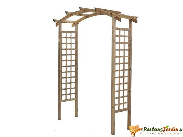 Jardipolys - Pergola double en arc en bois Violette - pas cher Achat / Vente Pergolas et ...