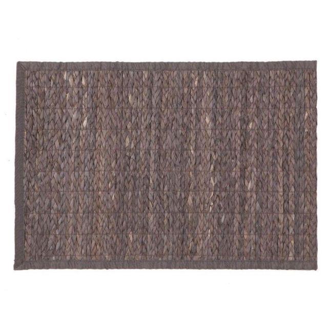 Jja Tapis bambou tressé 50x80 cm gris foncé
