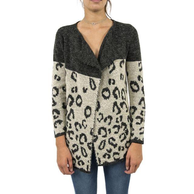 c8538f6b811 Molly Bracken - Gilets cardigans e930a17 gris Taille unique - pas cher Achat    Vente Gilet femme - RueDuCommerce