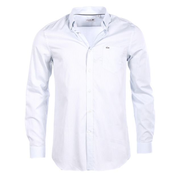 52367f3dd8 Lacoste - Lacoste - Homme - Chemise bleu ciel a fines rayures regular fit  Ch6660