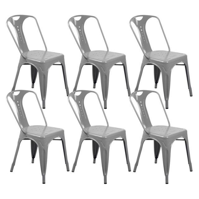 lot de chaise industrielle blanche pas cher