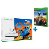Console XBOX ONE S 1TO BLANCHE + FORZA HORIZON 3 + HOT WHEELS XBOX ONE + PUBG - PlayerUnknown's Battlegrounds Game Preview Edition