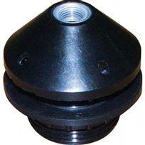 Ebenoid - Douille à visser E27 plastique 1/2 filetée + bague noir