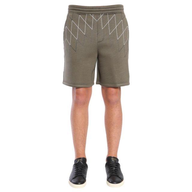 Barrett Blackbarrett By Neil Homme Pxjp7691HC1653 Vert Viscose Shorts