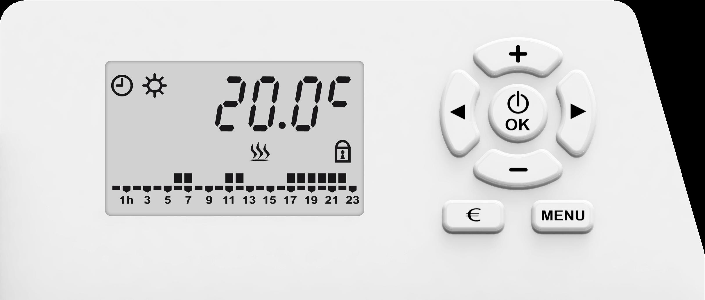 Radiateur inertie chaleur douce LCD MARS 1500 W