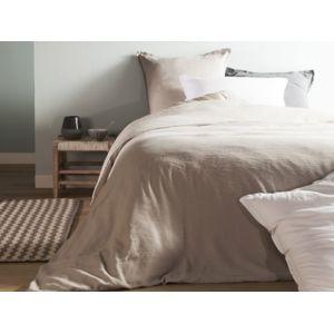 Comptoir Des Toiles - Housse de couette unie lin et coton lavé Hortense - Beige - 240x220cmNC