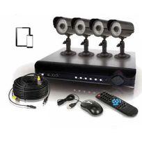 Securitegooddeal - Kit de Vidéo surveillance 4 cameras Super Cmos